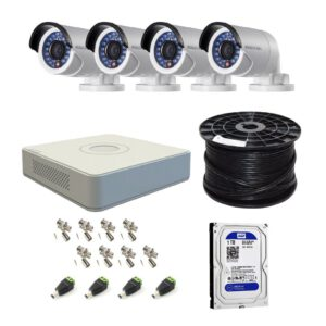 Hikvision 4 Ch HD CCTV Kit with 1TB HDD – 1080P
