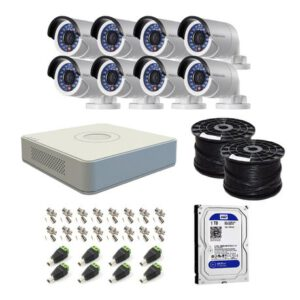 Hikvision 8 Ch HD CCTV Kit with 1TB HDD – 1080P