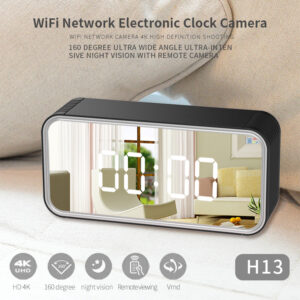 HD Wi-Fi Clock Hidden Camera